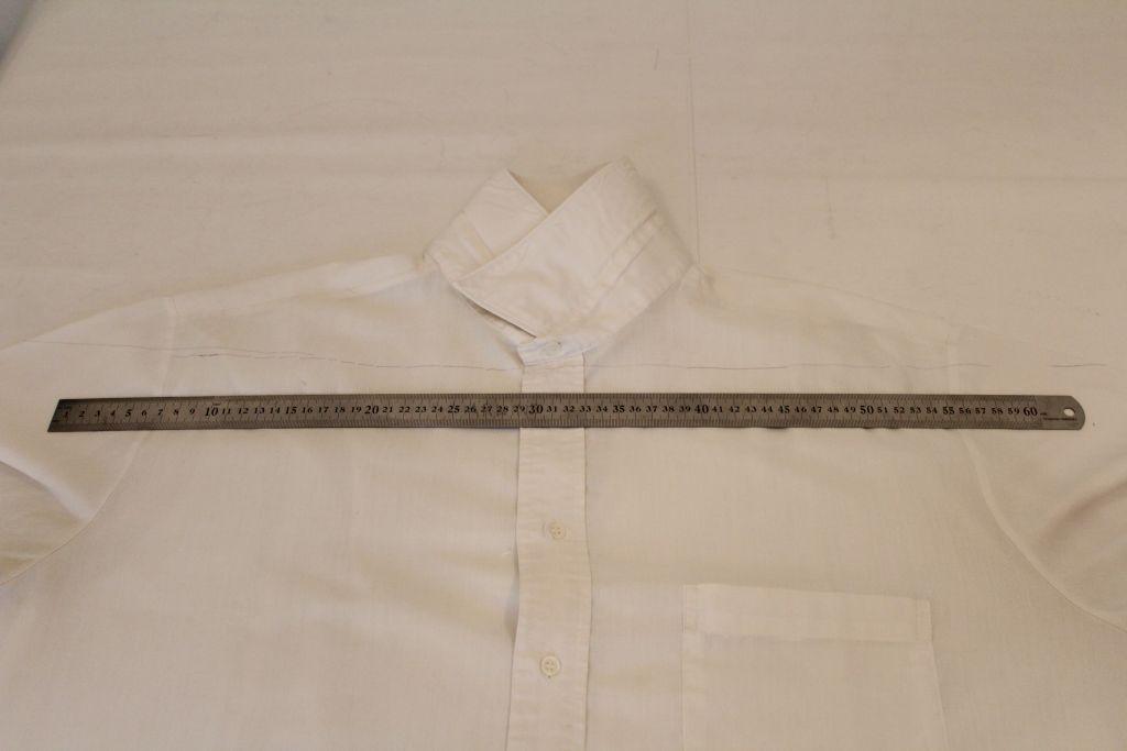 Lie shirt flat