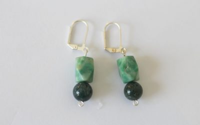 Stone & Silver Earrings