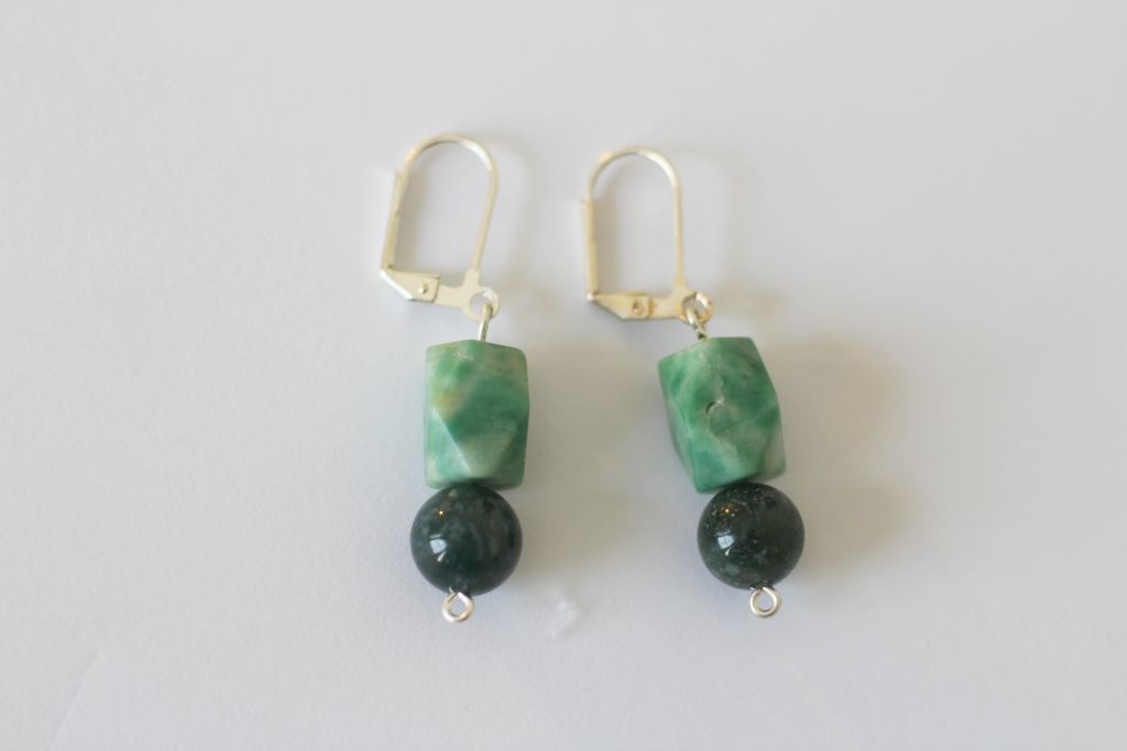 Easy Stone & Silver Earrings