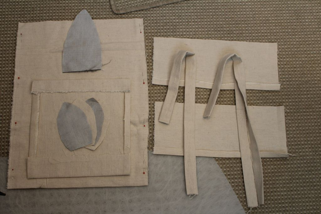 Cut pieces for bag
